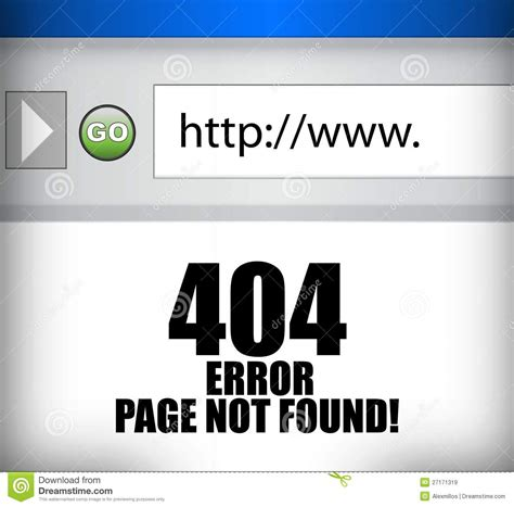 404 error page not found browser illustration royalty free stock images image 27171319