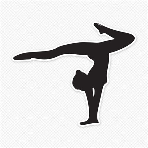 gymnastics clipart gymnastics silhouettes on gymnastics silhouette and