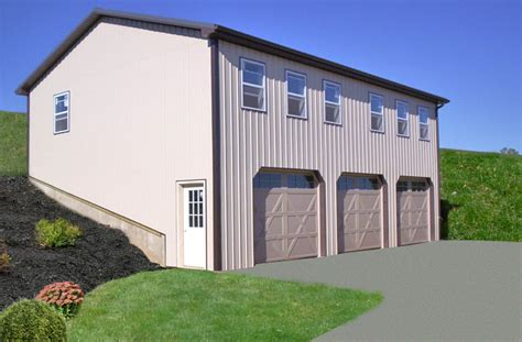 two story pole barn pole building garages garage builders in pa