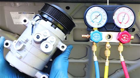 automotive air conditioning repair 2004 honda accord interior lighting how to replace an ac compressor in your car youtube