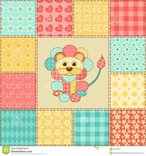 Patchwork Pattern - patchwork pattern royalty free stock photo image