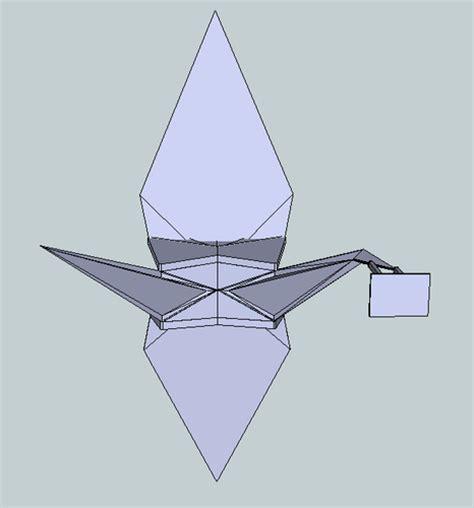 Origami Player Free - origami crane free 3d model 3d printable stl cgtrader