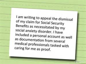 How To Write An Appeal Letter To Social Security Disability how to write an appeal letter to social security disability with sle letters