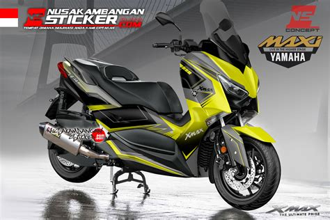 Am Cp X Hitam decal x max 250 hitam kuning solid nusakambangan sticker nusakambangan sticker