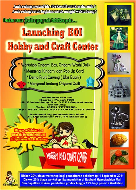 Rabbani Mall klub origami indonesia workshop origami praktis dan