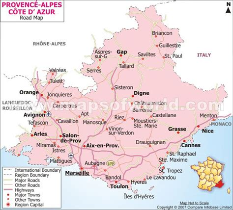 map of provence provence alpes cote d azur road map