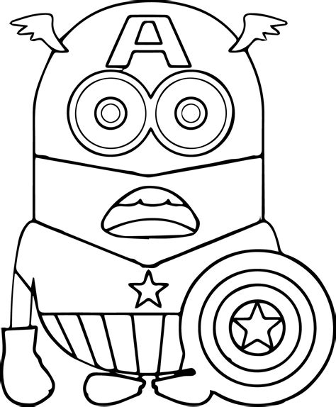 Minion Coloring Pages Printable Coloring Pages In Coloring Pages