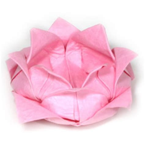 Simple Origami Lotus Flower - how to make a traditional origami lotus flower page 1