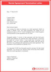 Termination Agreement Letter Template by Rental Agreement Termination Letter Sle Letter Letter Sle