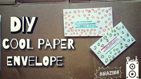 How To Make A Paper Envelope Without Glue - how to make a paper envelope without glue or my