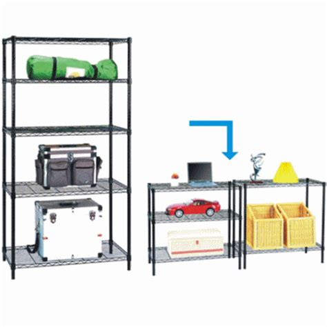 Metal Shelf Rack Singapore by Qoo10 5 Tier Black Wire Steel Shelf Rack Shelving For