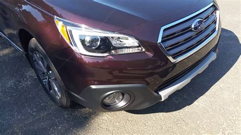 brown subaru 2017 subaru outback touring w saddle brown interior youtube