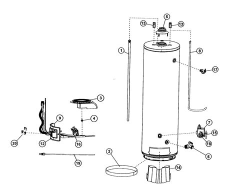 40 gallon water heater wiring diagram wiring and parts