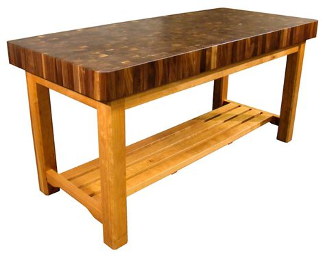 butcher block tables casual cottage - A Butcher Block Table