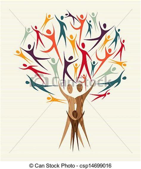 Diversity People Tree Set Family Human Shapes Colorful Vector Clip Art Search Illustration Tree Logo Setpeople Logo Setfamily