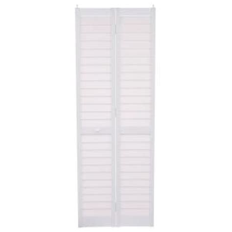 louvered closet doors home depot home fashion technologies 28 in x 80 in 3 in louver louver white pvc composite interior bi