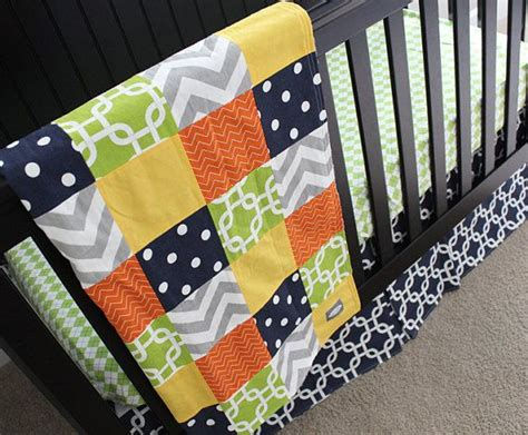 navy and green bedding custom baby bedding navy orange yellow lime green and