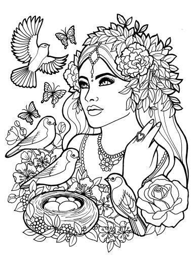 coloring pictures of adults fantasy myth mythical mystical legend elf elves coloring