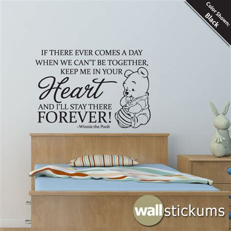 quotes on wall stickers nursery wall decal quote winnie the pooh by wallstickums