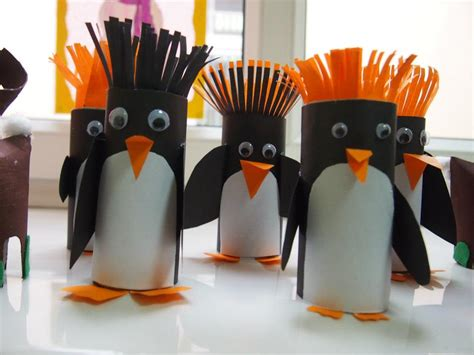 penguin crafts for to make cutest penguin craft toilet paper rolls penguins