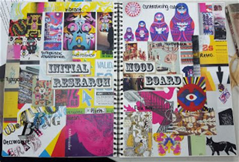 graphics design a level asfc a level graphic design jess s mood board of initial