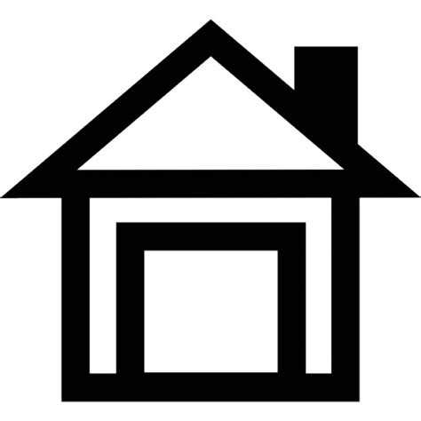 house outline house outline with chimney icons free download