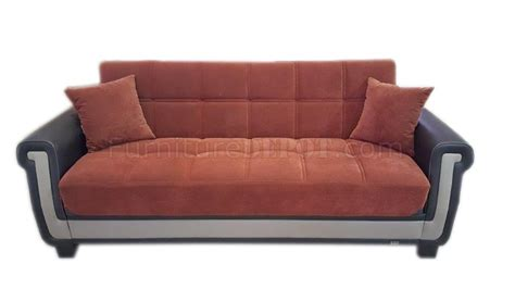 proline orange sofa bed in fabric by casamode w options