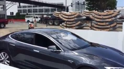 elon musk shows car elevator test for boring company s