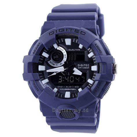 Jam Tangan Digitec Dg 3008t Original digitec dg 2112t navy blue jam tangan sport anti air murah