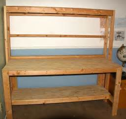 wooden work bench simple wooden workbench 11 steps with pictures
