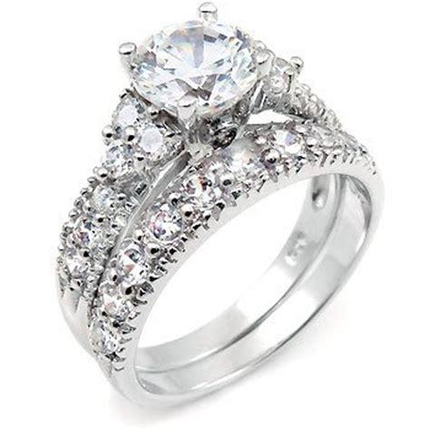 silver wedding rings with big ipunya