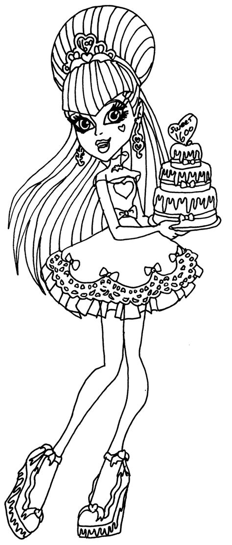 Monster High Coloring Pages Sweet 1600   draculaura sweet 1600 by elfkena on deviantart