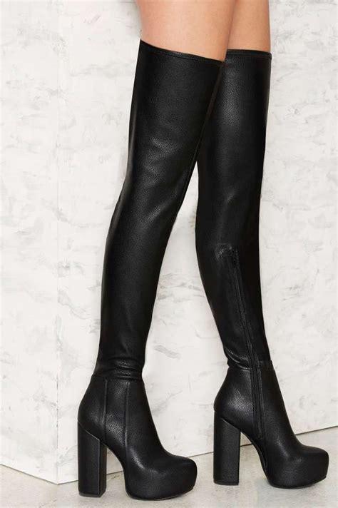 best 25 thigh high platform boots ideas on