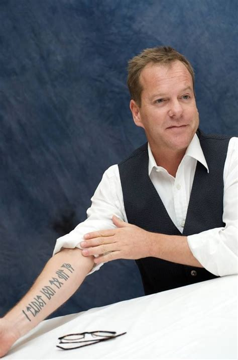 kiefer sutherland tattoos keifer sutherland s in younger futhark runes reads