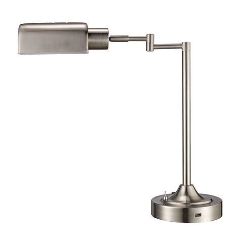 led swing arm desk l monteaux lighting 17 5 in brushed nickel led swing arm