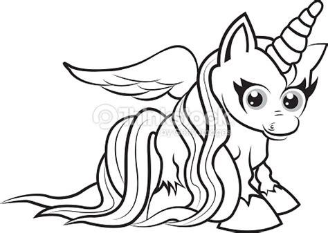 imagenes de unicornios en blanco y negro unicornopagina da colorare per i bambini arte vettoriale