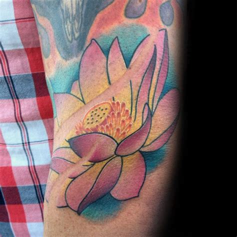 lotus tattoo guy 100 lotus flower tattoo designs for men cool ink ideas