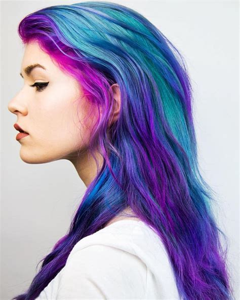 multi color hair dye best 25 multicolored hair ideas on
