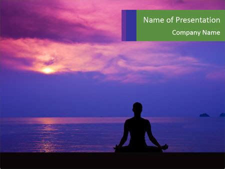 powerpoint templates zen zen yoga during sunset powerpoint template backgrounds