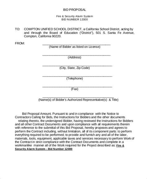 sle bid proposal 7 documents in pdf word