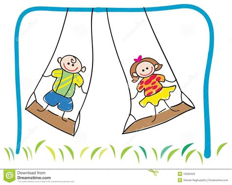 swinging with swinging children royalty free stock images image 15093429