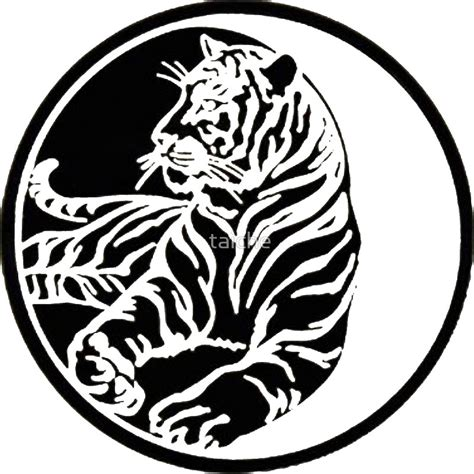 Tribal Sticker Tattoo by Quot Tiger Silhouette In Tribal Tattoo Style Quot Stickers By