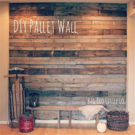 diy recycled pallet wall 99 pallets
