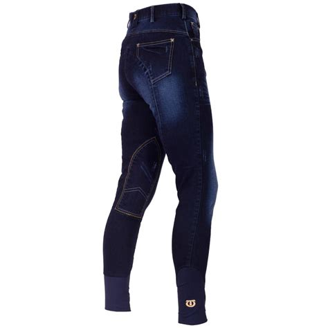 Washed Knee Patch tagg houston denim breeches washed denim