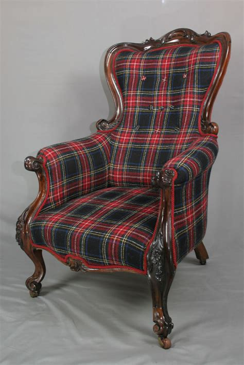 tartan armchair antique victorian tartan armchair sold antique chairs restoration upholstery in