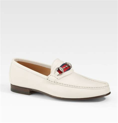 loafers for white gucci loafer in white for lyst