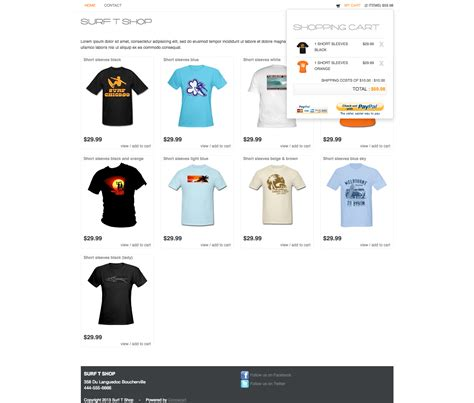 Bootstrap Jquery Paypal Shopping Cart By Cocoacart Jquery Shopping Cart Templates