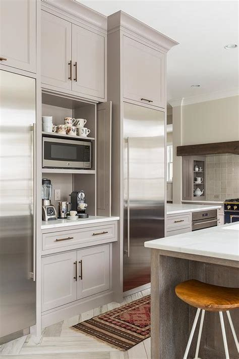 kitchen coffee station  fold  doors contemporary