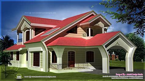 unique homes plans unique home exterior in 2950 square feet home kerala plans