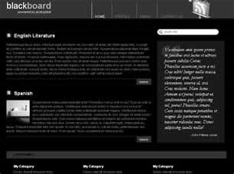Blackboard Free Website Template Free Css Templates Free Css Blackboard Website Templates
